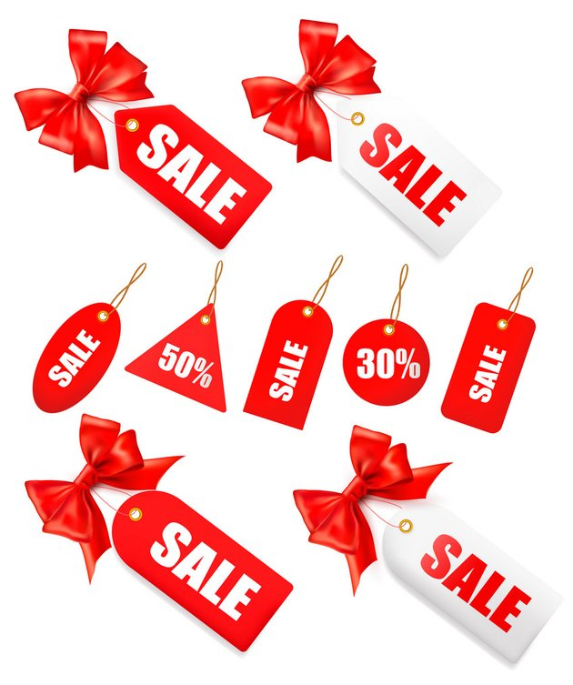Big Set of Sales Tags