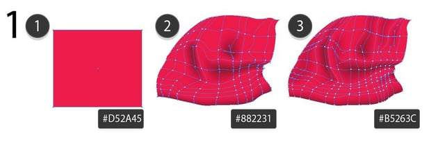 use mesh to draw a santa hat