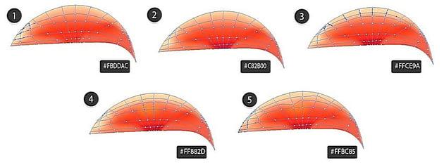 vector mesh part in adobe illustrator