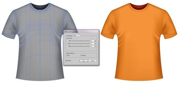 orange vector t-shirt template