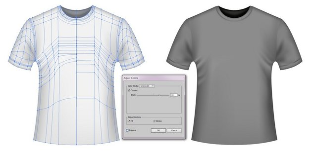how to recolor mesh t-shirt