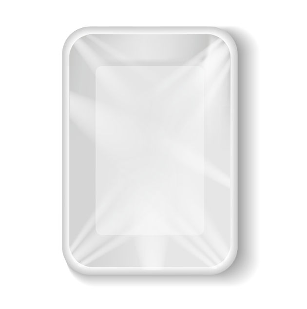 Polypropylene tray with clear foil
