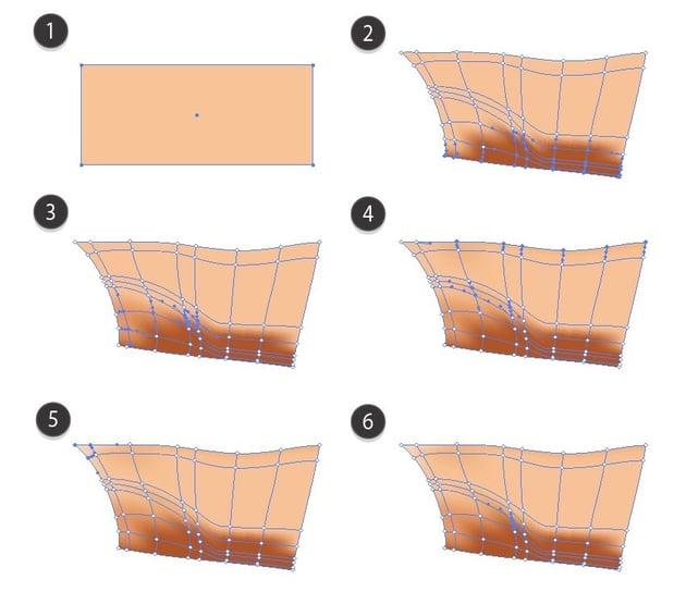 vector finger mesh