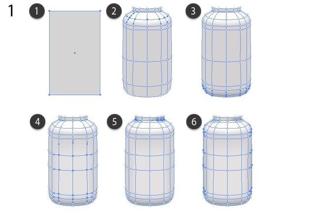 vector mesh bottle