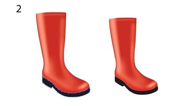 vector rain boots
