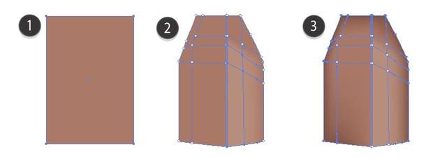 mesh in illustrator house tutorial