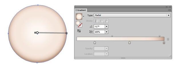 radial gradient clock