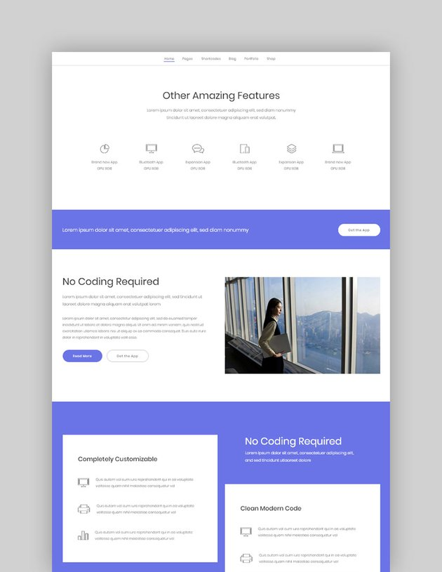 Fluid Startup and App Landing Page Theme
