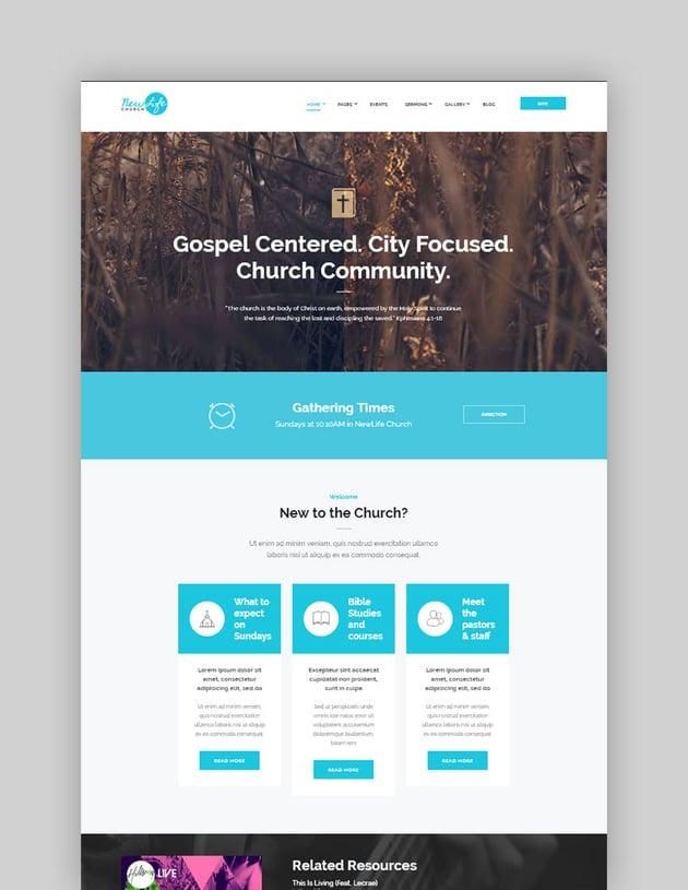 New Life Church  Religion WordPress Theme
