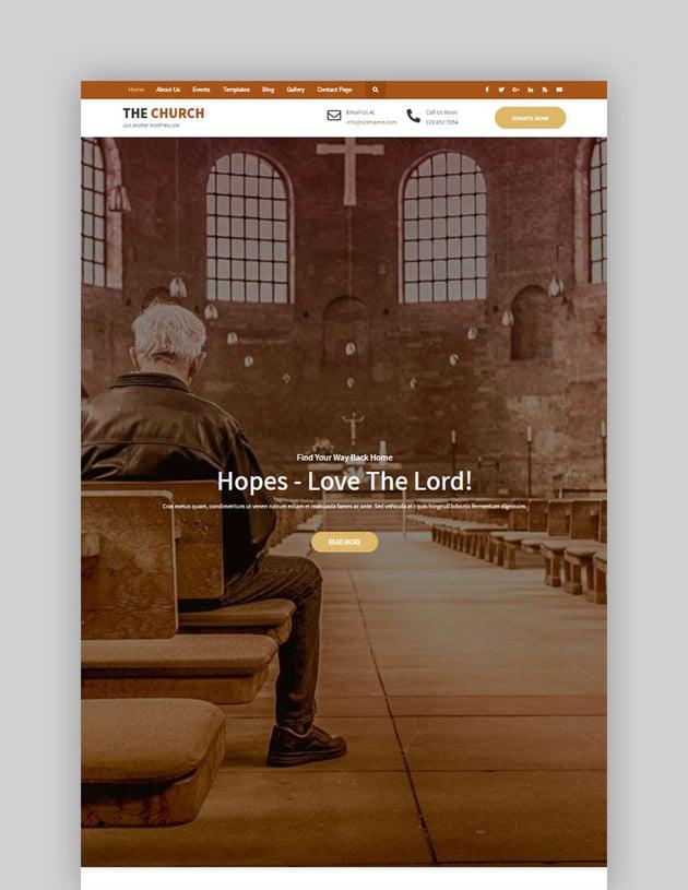 The Church Lite Free WordPress Theme