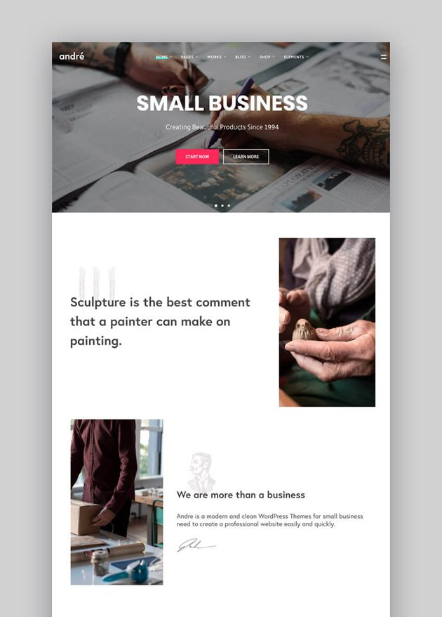 Andr - Limpio tema de WordPress para el sitio web de una empresa