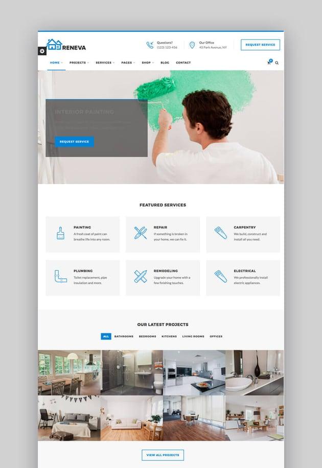 Reneva - Intuitivo tema de WordPress para pequeña empresa online