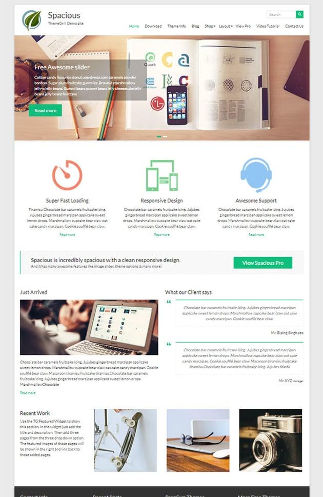 Spacious - Tema de WordPress gratuito
