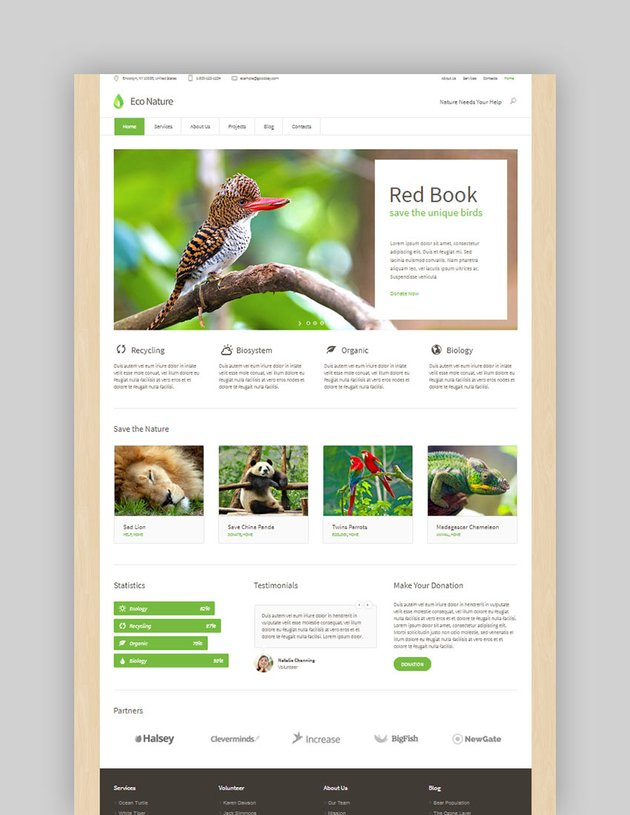 Eco Nature - Environment  Ecology WordPress Theme