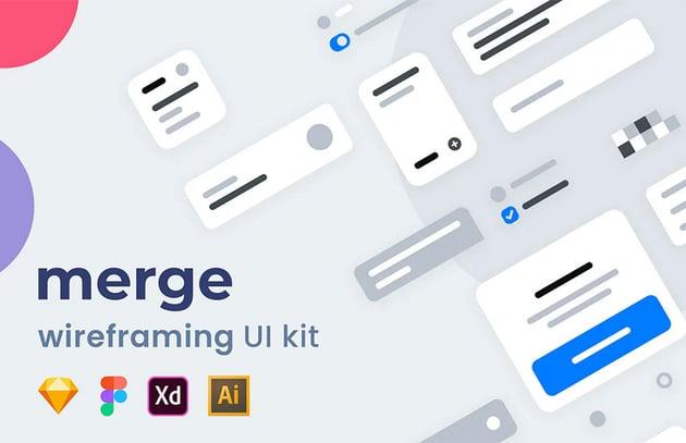 Merge Wireframing UI Kit