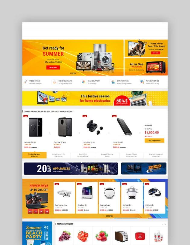 eMarket - Multi Vendor MarketPlace Elementor WordPress Theme