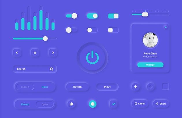 FREE - Neumorphism UI Kit