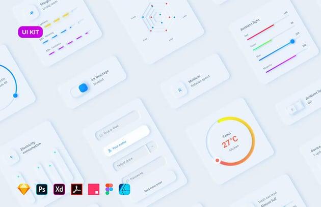 Neumorphic UI for Smart House