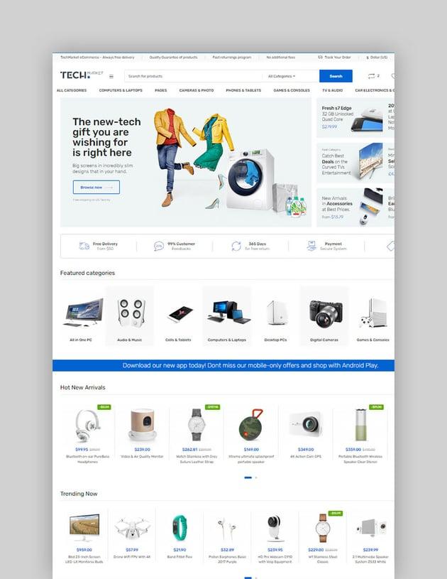 Techmarket - Multi-demo & Electronics Store WooCommerce Theme