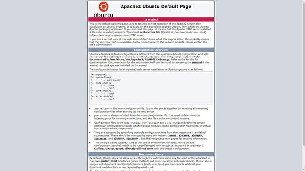 New Apache server