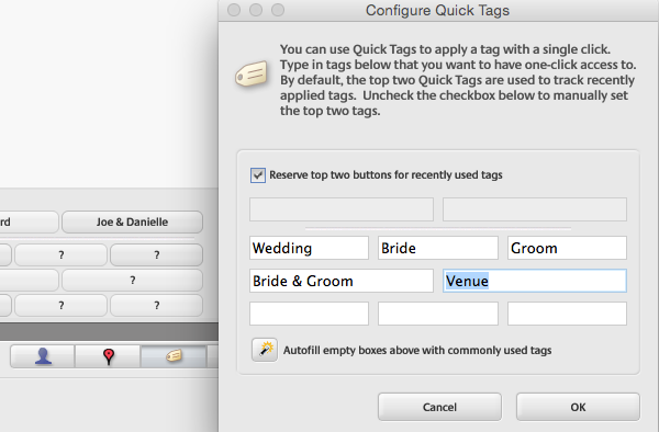 Configure Quick Tags