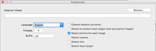 Manually select preferences