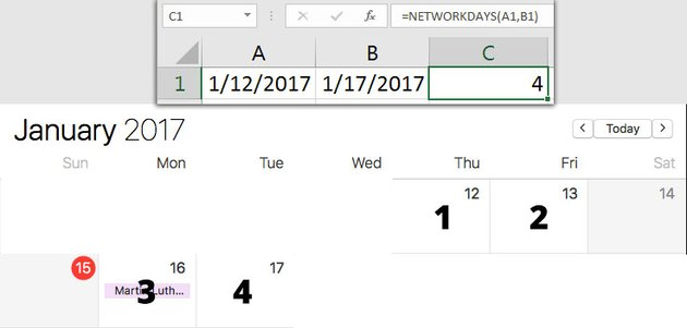 Using Excel Date Formula with NETWORKDAYS