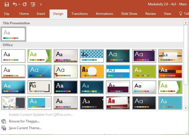 Change themes in PowerPoint