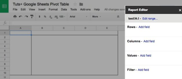 Report Editor in Google Sheets