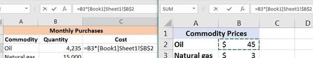 Excel multiplying between workbooks