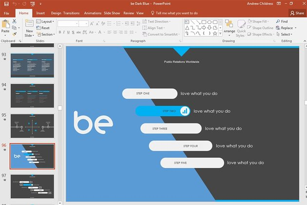 PowerPoint custom presentation