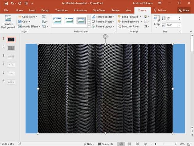Image inserted into PowerPoint