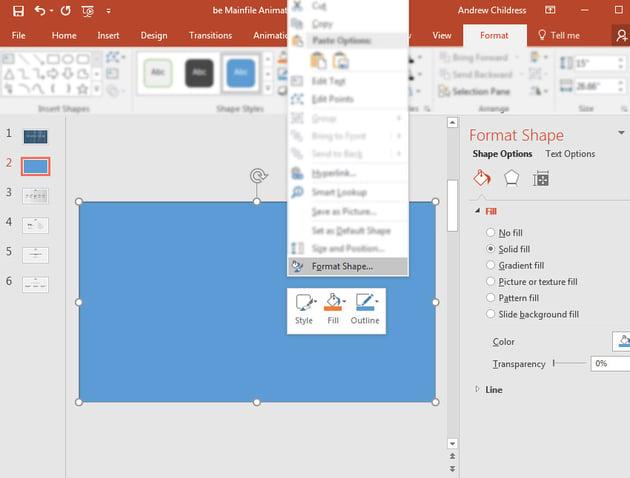 Format Shape in PowerPoint
