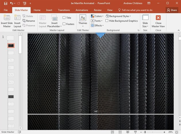 Background image added in PowerPoint