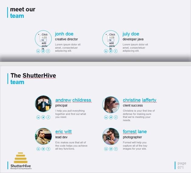 Team PowerPoint presentation Slide
