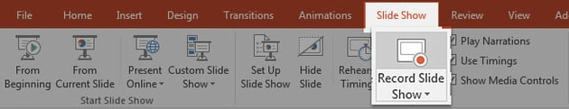 Record Slide Show in PowerPoint