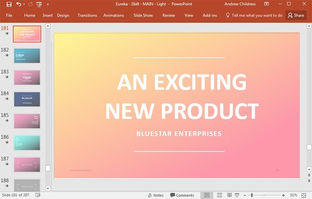 Creative Presentation Slide 181 - Eureka PowerPoint theme