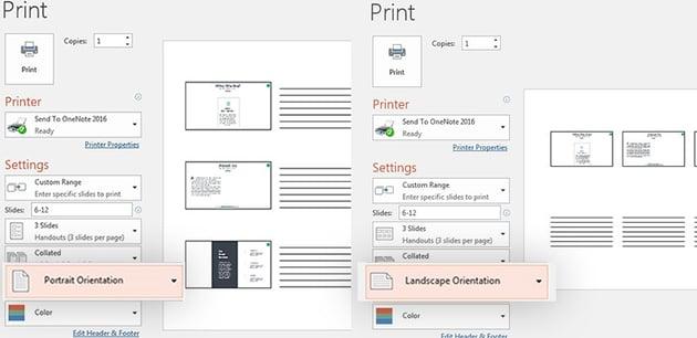 Portrait Landscape in PowerPoint