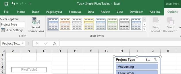 Slicer settings in Excel