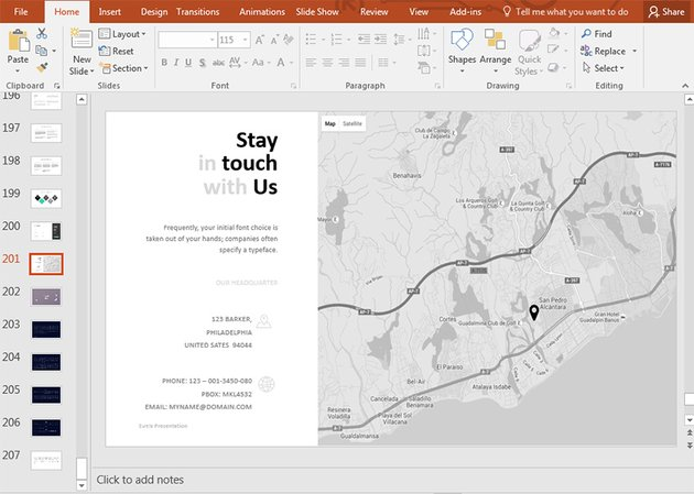 Stay in touch with us last slide PowerPoint