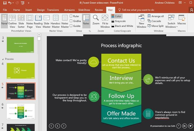 Hiring process animated PowerPoint slide template