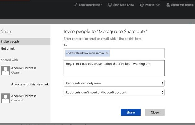 Invite Viewers to Your Online PowerPoint presentation