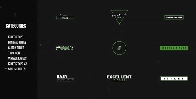 Huge titles and typography pack