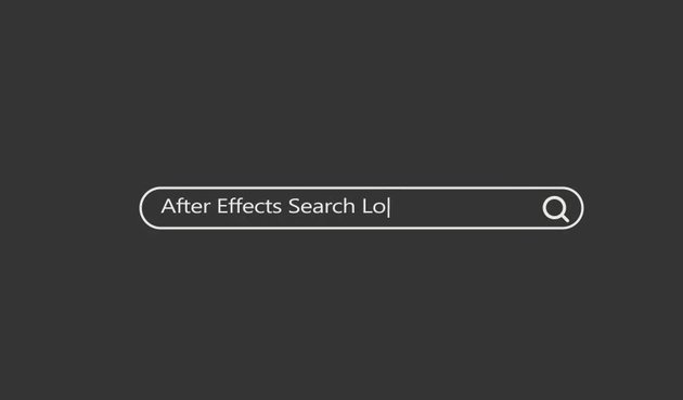 After Effects Search Logo Reveal
