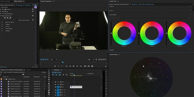 Premiere Color Correction with Scope
