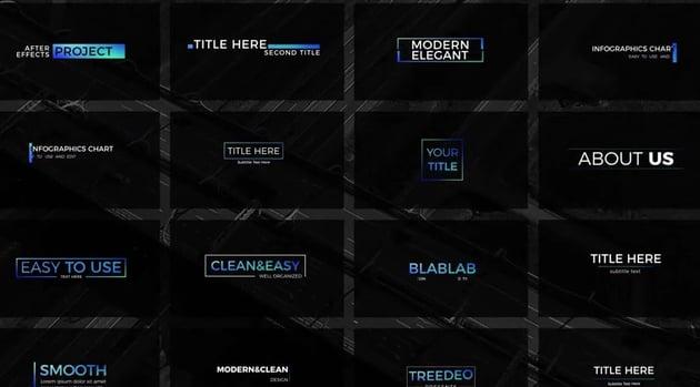 Modern Minimal Titles Pack