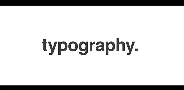Stomp Typographic Intro