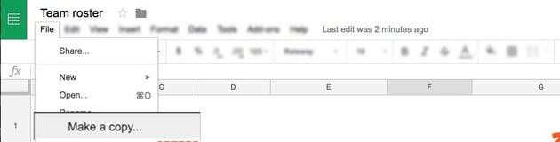 File Make a Copy