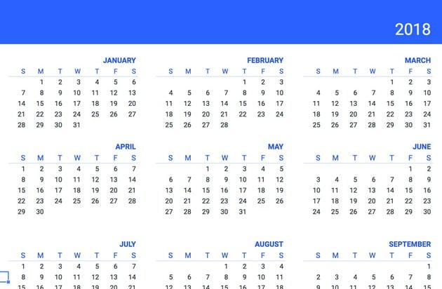 Google Sheets Calendar Template