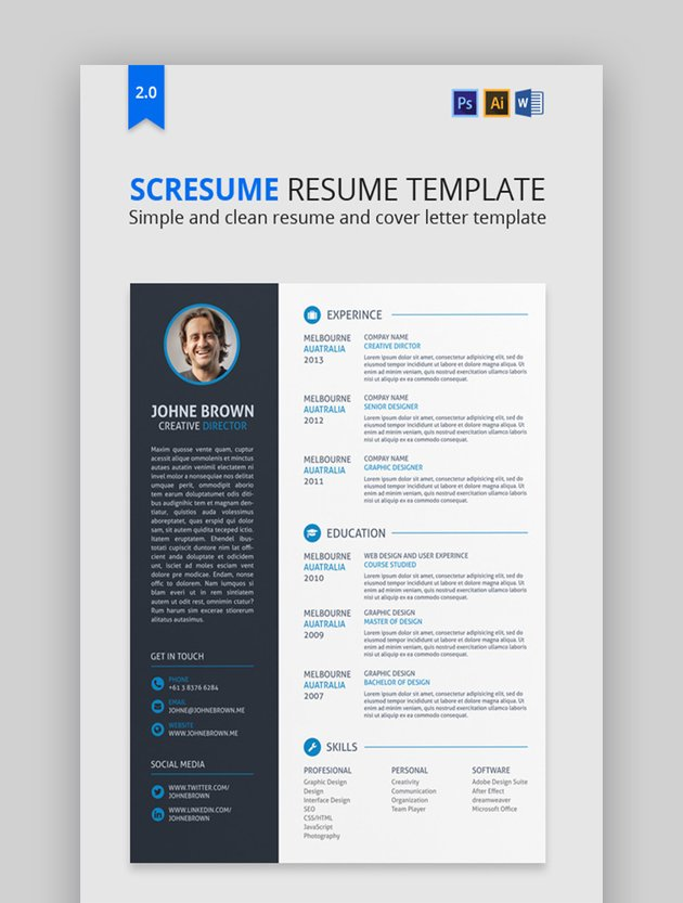 Scresume basic resume template